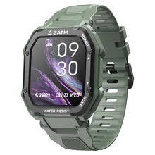 Lokmat 1.7「正方形フルタッチスクリーンスマートフォンの腕時計腕時計3ATM防水心拍数スポーツためのスマートウォッチアンドロイドios