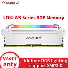 Memória dupla do desktop 8g 16g 16g 3200mhz 3600mhz 32gb ram de asgard w3 ram 8gbx2 3200mhz 3600mhz da ram ddr4 do rgb mhz do dimm do canal