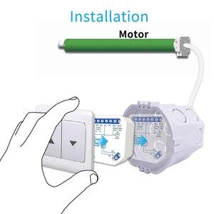 Tuya Smart Life WiFi Curtain Switch Module for Roller Shutter Blind Motor Smart Home Google Home Amazon Alexa Voice Control V2
