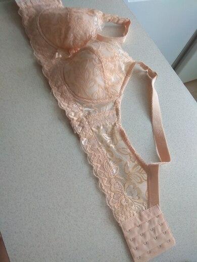 Plus Size 40 42 44 Lace Bras for Women's Bralette Crop Top Underwear Sexy Lingerie Push Up Brassiere Girl full cup d cupbra breast - AliExpress