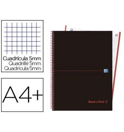 SPIRAL NOTEBOOK OXFORD EBOOK 1 TOP EXTRADURA DIN A4 + 80 H GRID 5 MM BLACK'N COLORS NETWORK 5 Pcs