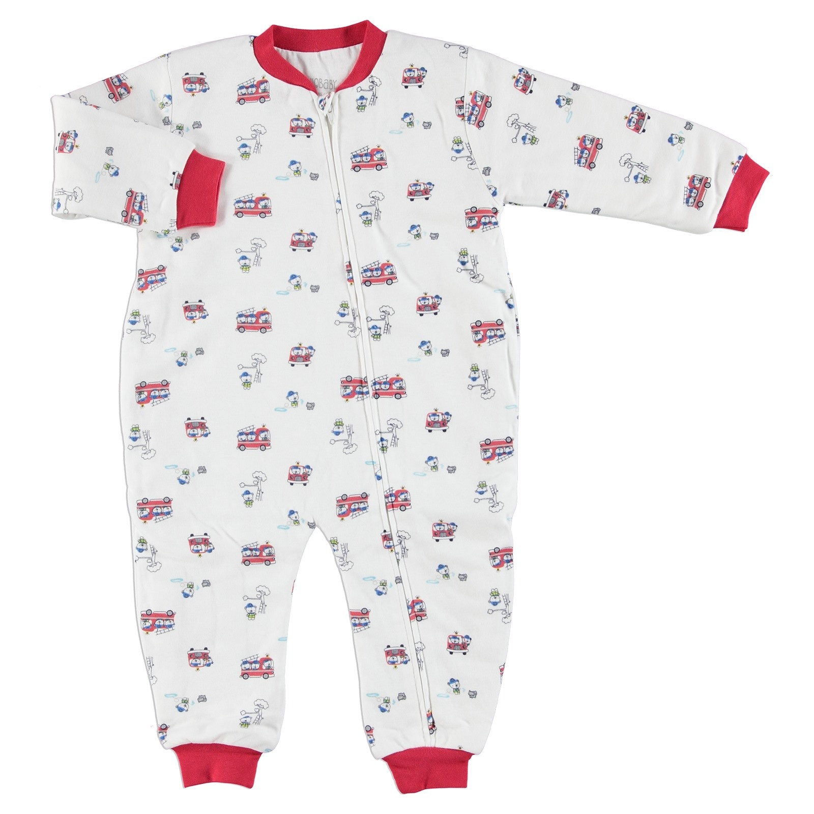 Ebebek HelloBaby Firefighters Baby Sleepsuit Romper