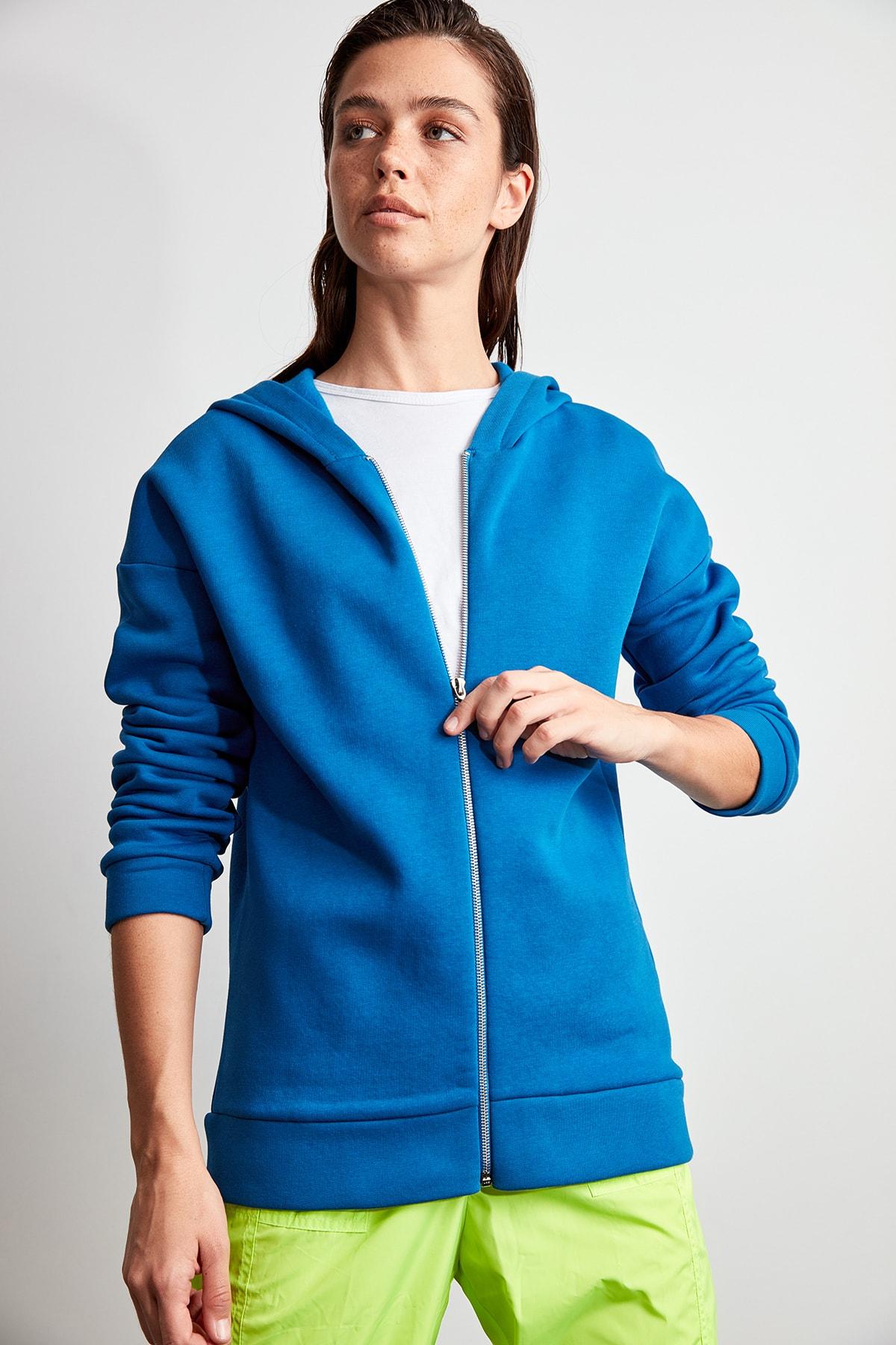 Trendyol Şardonlu Knitted Sweatshirt TWOAW20SW0626