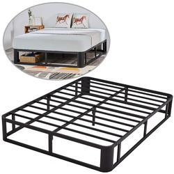 Bed Frame 12 Metal Platform Bed Frame Heavy Duty Steel Slat Platform Strengthen Support Mattress No Box Spring Needed (Twin)