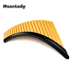 High Quality 22 Pipes PanFlute with Base G Key ABS Plastic Romania Pan flute Music Instrument Tunable Panpipes Flauta Wholesale