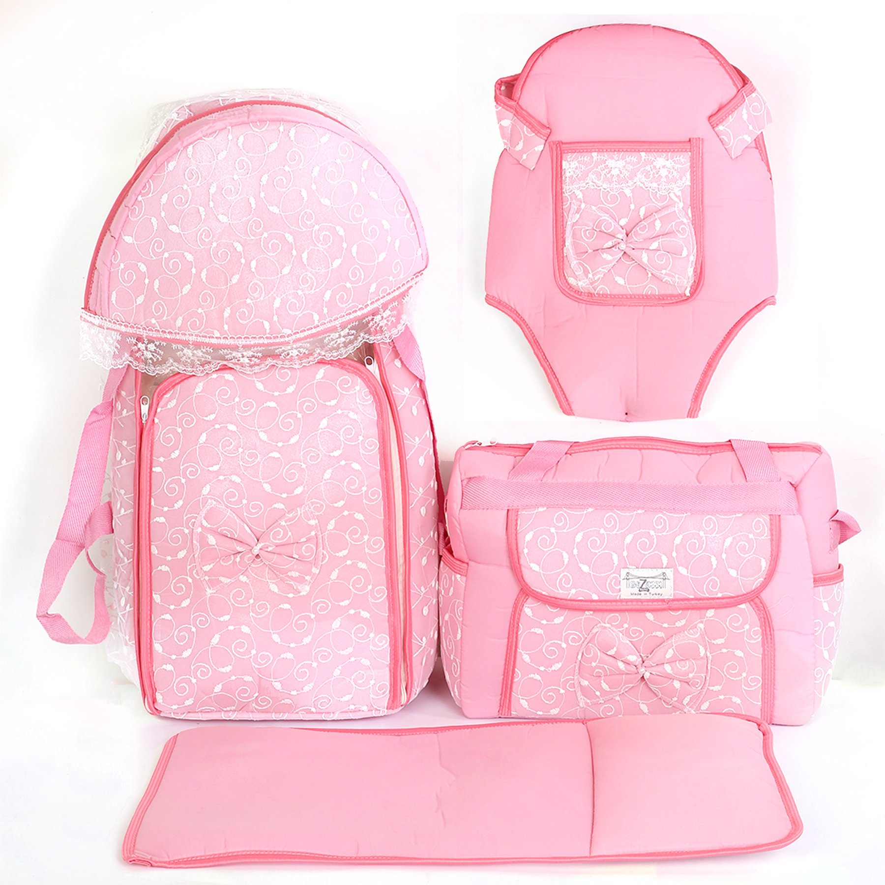 Ruched 4'lü Pink Carry Set