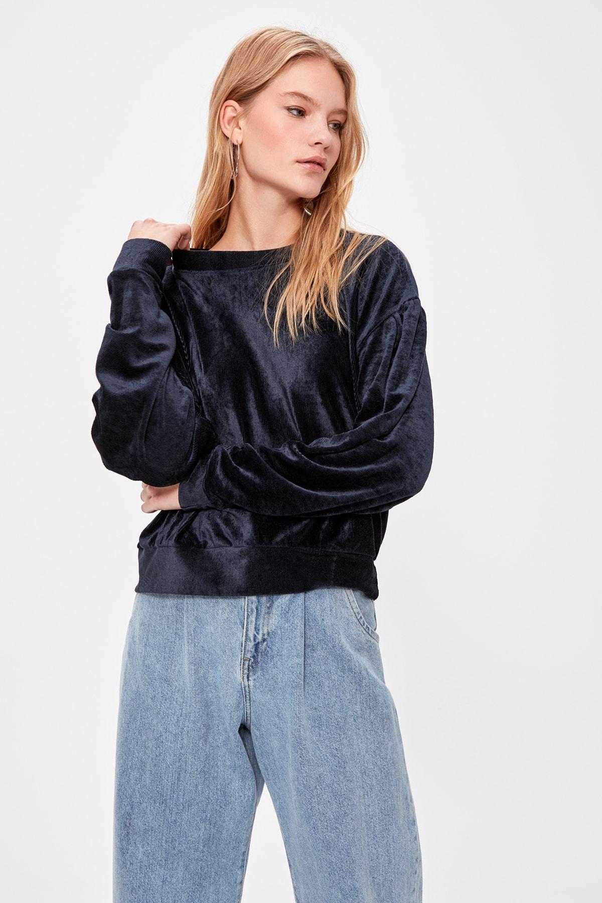 Trendyol Textured Knit Sweatshirts TWOAW20SW0654