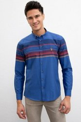 U.S. POLO ASSN. Темно-синяя Узкая рубашка