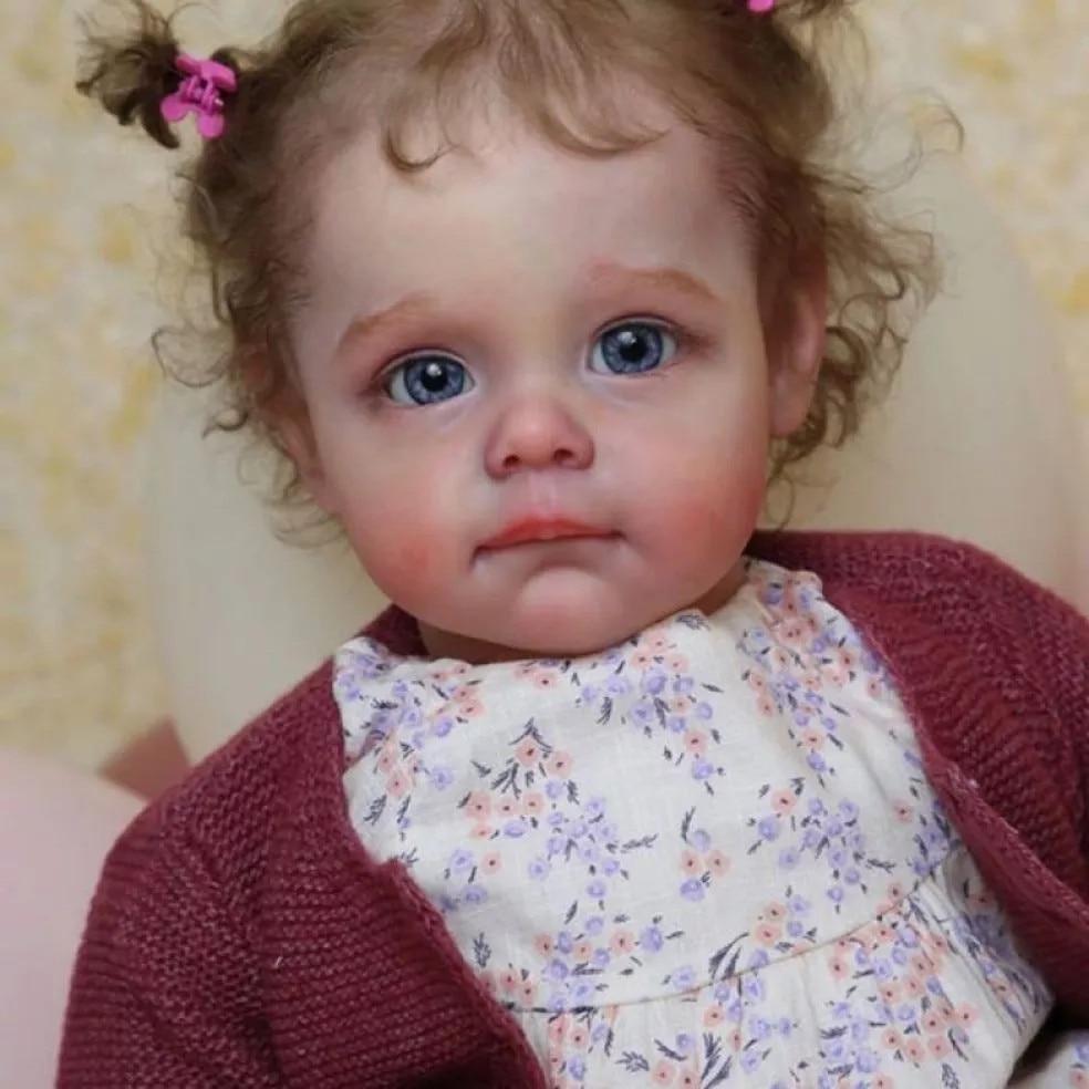 RSG Reborn Baby Doll 22 Inches Lifelike Newborn Bebe Reborn Maggi Vinyl Unpainted Unfinished Doll Parts DIY Blank Doll Kit