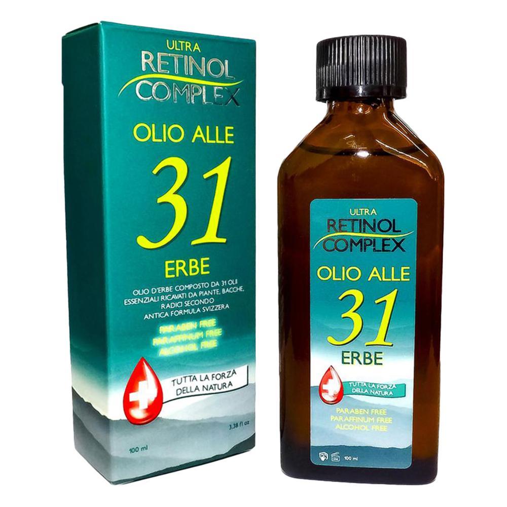 Due Flaconi Retinol Complex Olio alle 31 Erbe senza Parabeni Paraffina 200ml MI-320 3