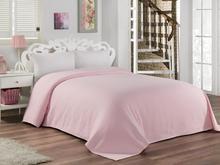BuanArt Pink Single Jacquard Pique, 160x230cm Measured Pique, 100% Cotton Pique ultra Soft Structure Sleep Comfort