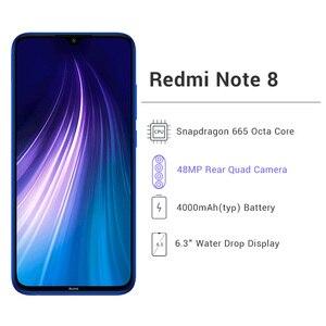 "Image 2 - Version mondiale Original Xiaomi Redmi Note 8 4GB RAM 64GB ROM 6.3 ""Snapdragon 665 48MP 4000 mAh 18W empreinte digitale visage ID infrarouge"
