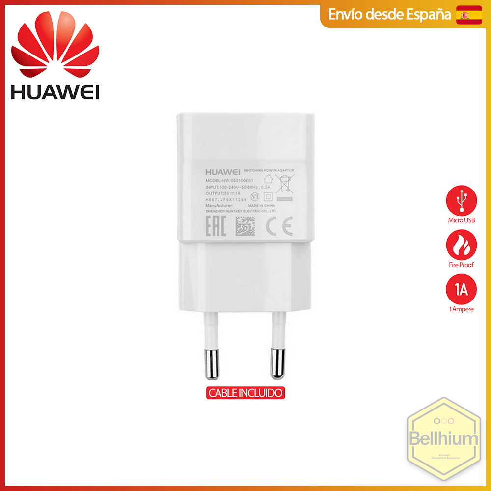 Chargeur Huawei HW-059200EHQ + Micro USB Charging & Data Cable 1M, Max 18W - 9V/5V 2A