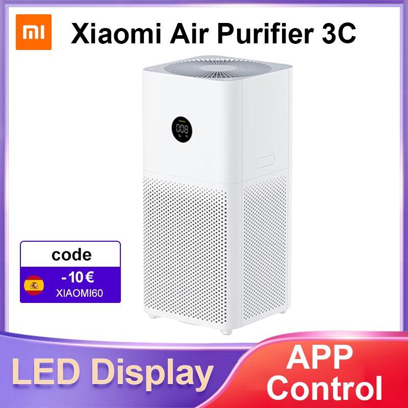Xiaomi Mi очиститель воздуха 3C для дома MIJIA умный очиститель свежего воздуха детектор дыма портативный HEPA фильтр стерилизатор PM 2,5 дисплей