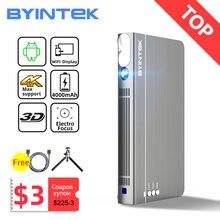 BYINTEK P12 Mini 3D 4K 300 inç akıllı Wifi cep taşınabilir Video Beamer LED DLP lazer mobil projektör akıllı telefon