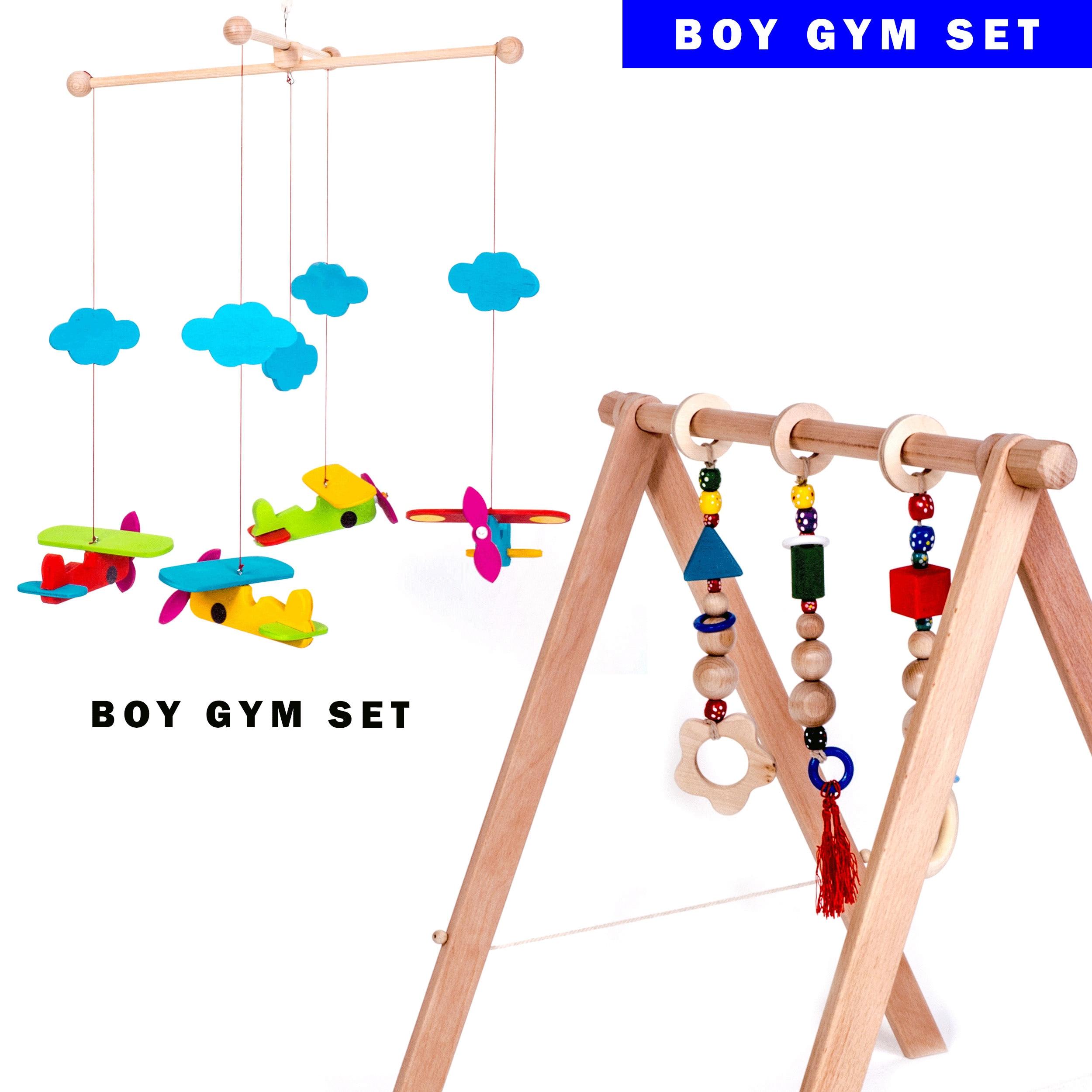 25 Baby & Toddler Toys INGODI Wooden Baby Crib Cradle Mobile Play Gym ...