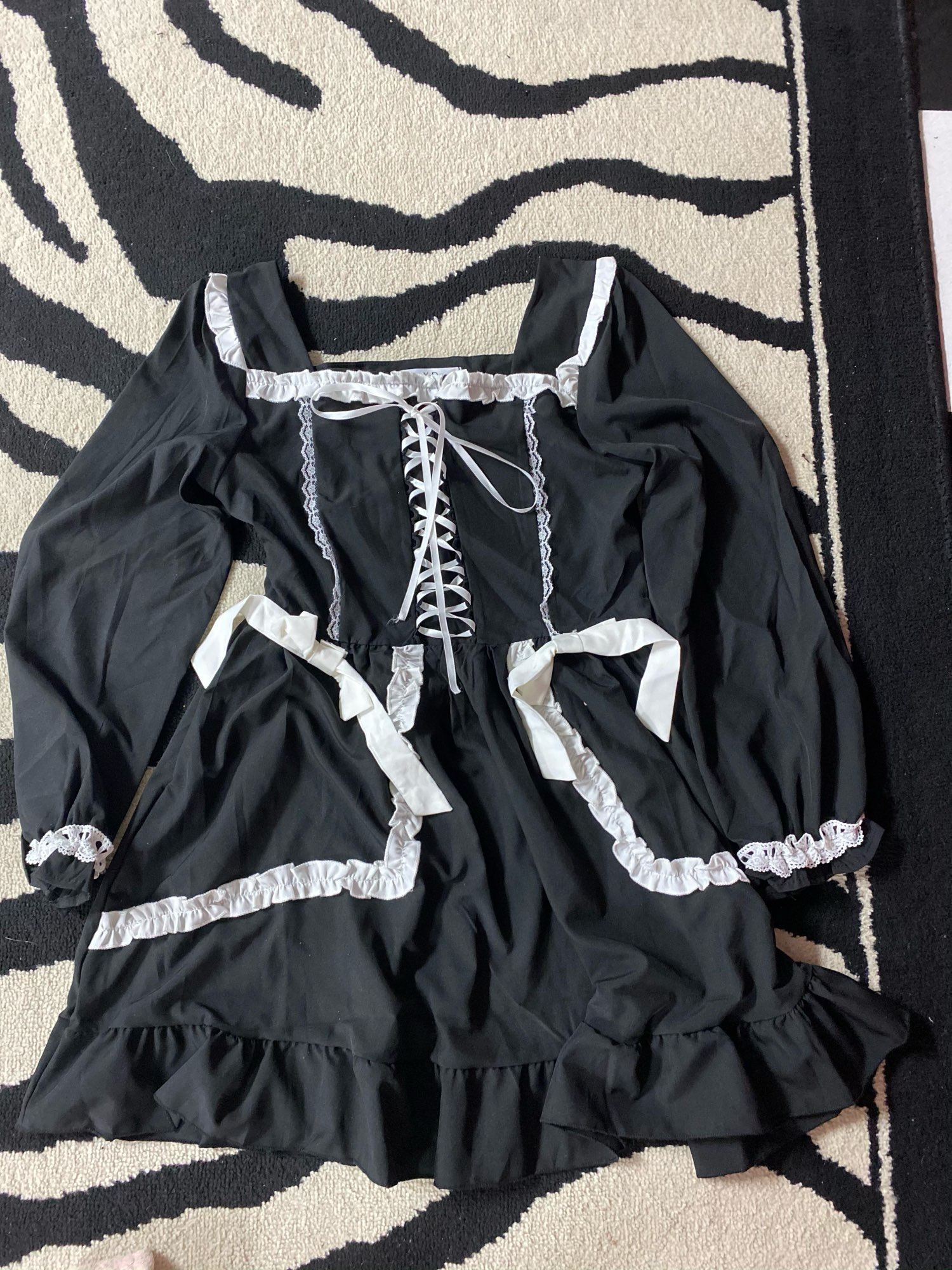 Japanese Lolita Gothic Dress photo review
