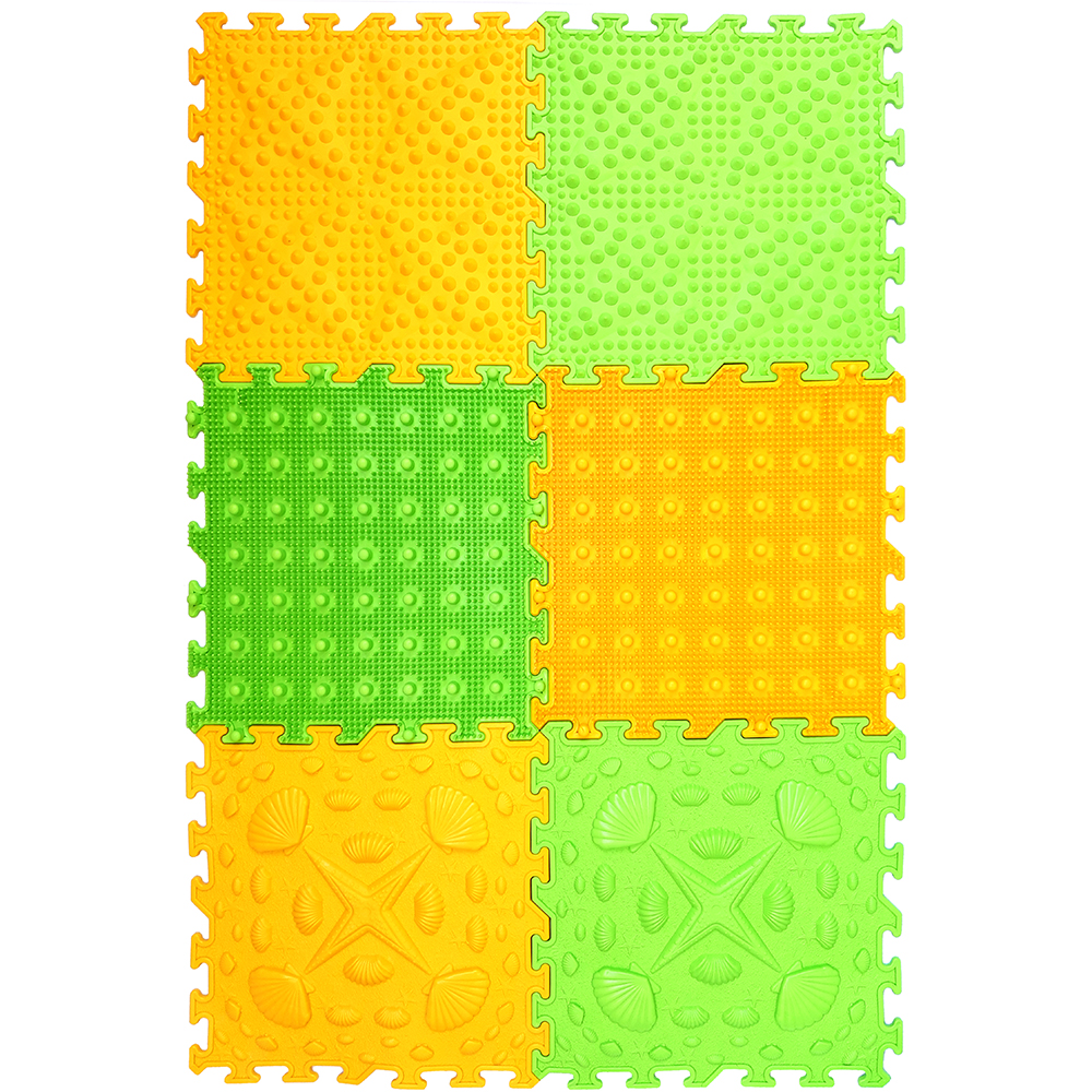 Massage modulaire tapis puzzle Directeur Foot ensemble 6.3 Tropique