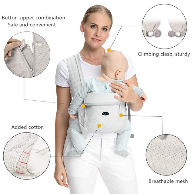 Baby carrier natural cotton ergonomic baby carrier backpack carrier kangaroo baby sling easy wearing  newborn infant toddler