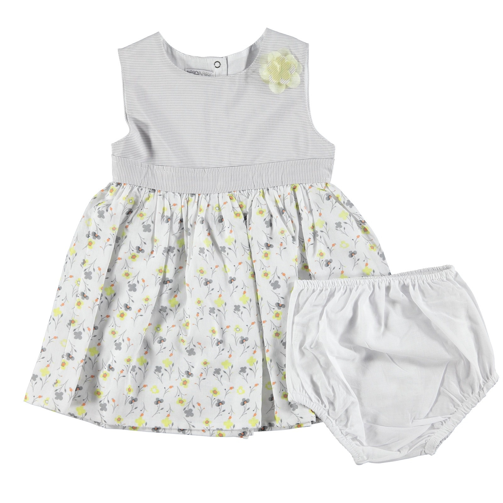 Ebebek HelloBaby Love Theme Baby Girl Sleeveless Dress