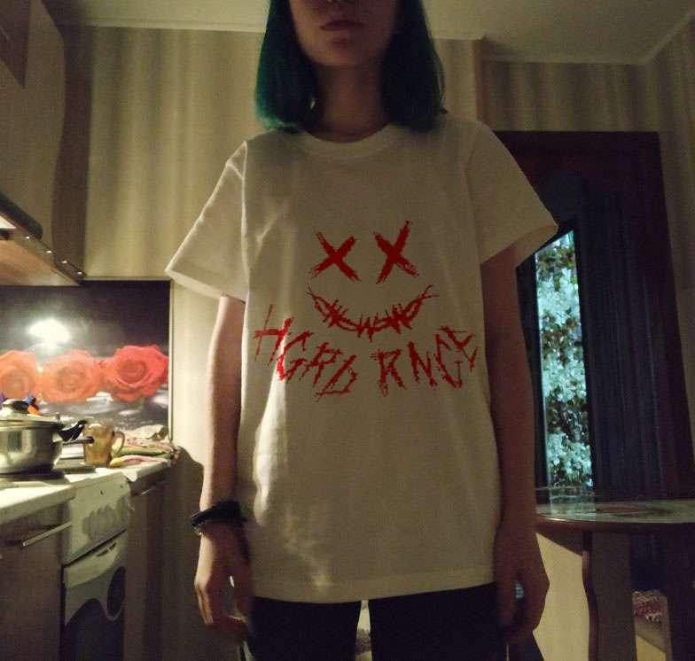Oversize Hip Hop T Shirt Women 2021 Streetwear Dark Devil Tshirt Short Sleeve Gothic Harajuku T-Shirt Loose Half Sleeve HipHop photo review