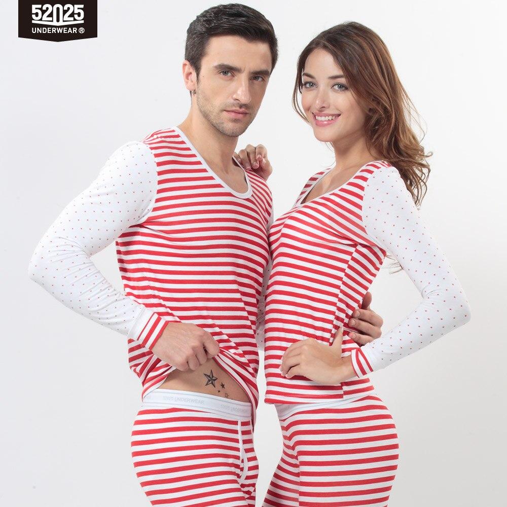 52025 Women Thermal Underwear Soft Comfortable Cotton Modal Thin Long Johns Elegant Print Light Men Women Underwear Thermal
