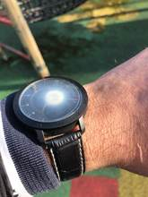 Item is as described, easy to set up, light and comfortable watch.