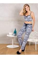 YENİ SEZON 2021 BÜSTİYER Kadın Lacivert Dolgulu Destekli Pamuklu Büstiyer Pantolon