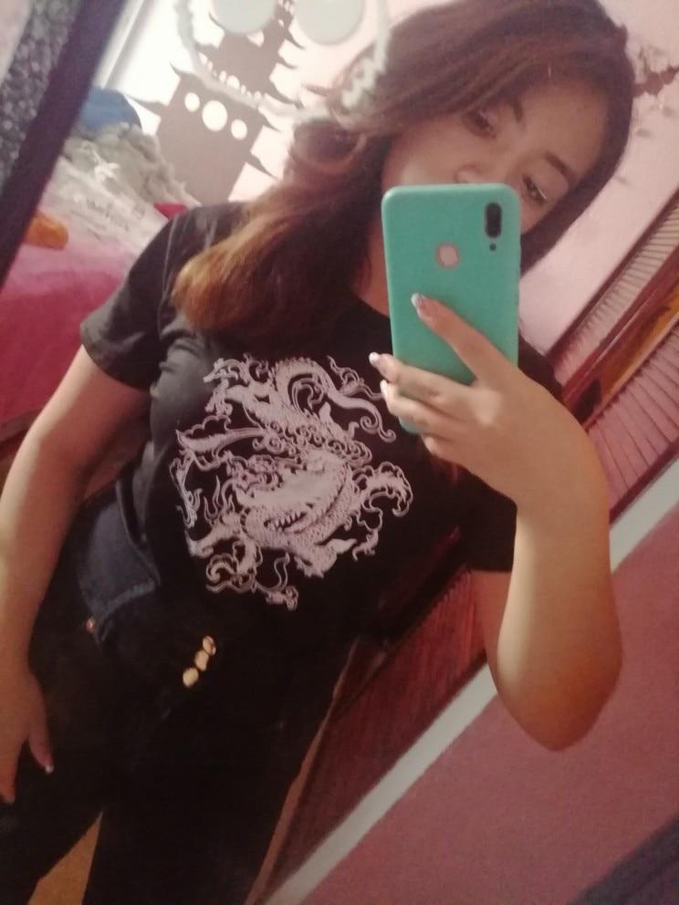 Dragon print T-shirt photo review