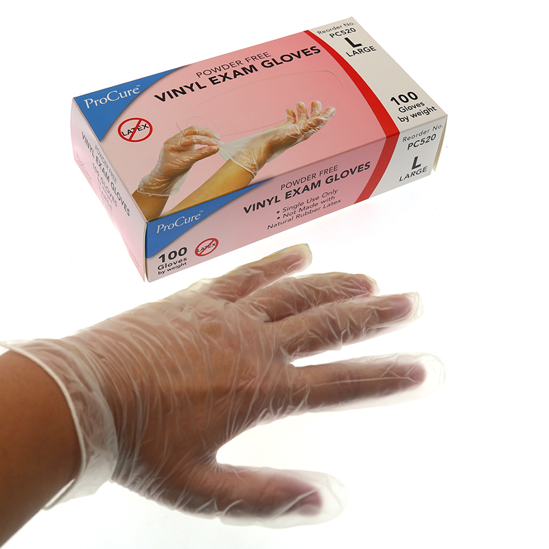 100PCS/BOX Disposable Power Free Vinyl Examination Hand Gloves Size L