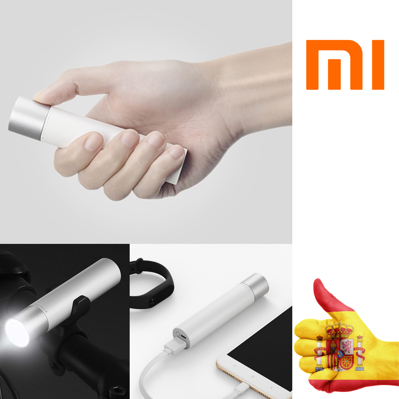 POWER BANK FLASHLIGHT MI X I A OR M I 3250 MAH CHARGER for MOBILE LANTERN COMPATIBLE WITH IOS ANDROID