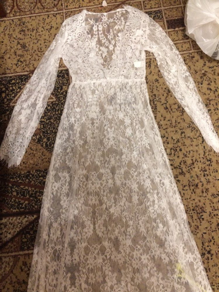 ArtSu Women Black Lace Dress Floor Length White See Through Dress Adjust Waist Sexy New Hollow Out Vestido Maxi Plus Size DR5046 vestido maxi lace dresssee through lace dresses - AliExpress