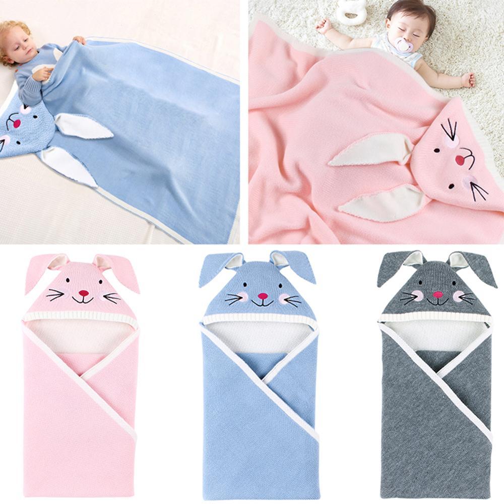 en title1:Newborn Baby Sleeping Bag Cotton Knit Envelope Swaddle Wrap Infant Boys Girls Winter Stroller Sleep Sack Toddler Sleeping Bags|Sleepsacks| |  - title=