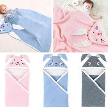 цена на Newborn Baby Sleeping Bag Cotton Knit Envelope Swaddle Wrap Infant Boys Girls Winter Stroller Sleep Sack Toddler Sleeping Bags