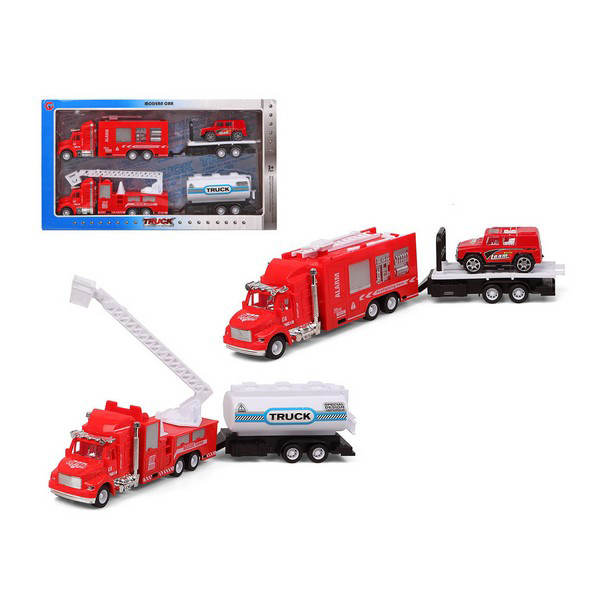 Set Of Cars Fire Engine Red 119244 (2 Uds)