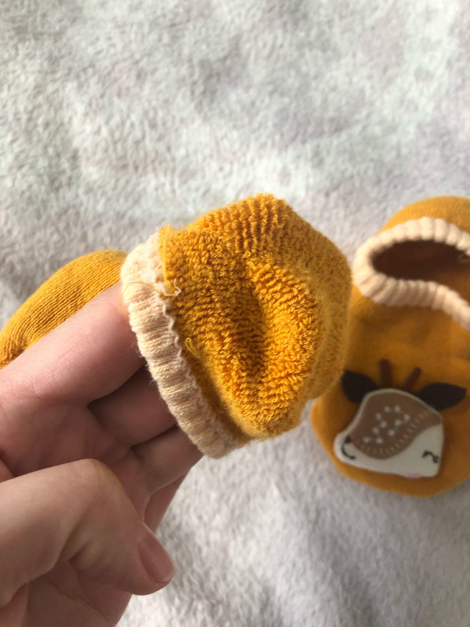 Autumn Winter Thicken Cotton Baby Boys Girls Low Cut Ankle Socks Rubber Slip-resistant Floor Socks Infant Kids Socks Soft Shoes photo review