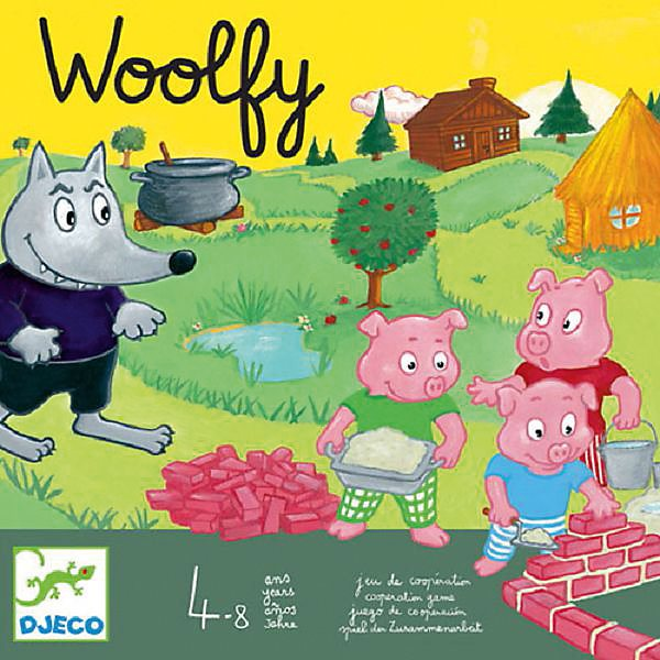 Board game the Three little pigs, DJECO цена