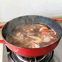#太太乐鲜鸡汁芝麻香油#大虾培根粉丝煲的做法图解8