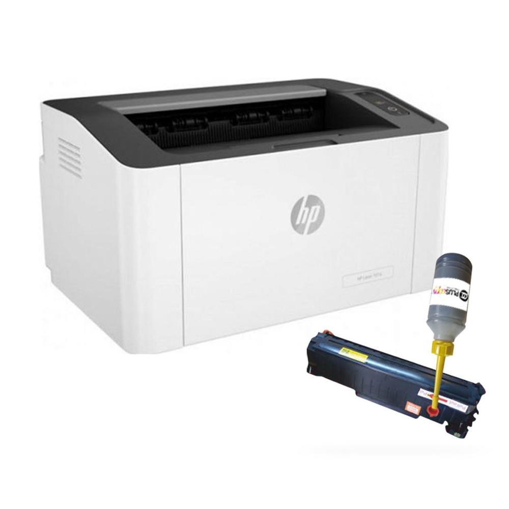 HP 107W Wifi Laser Printer and Refillable Toner image