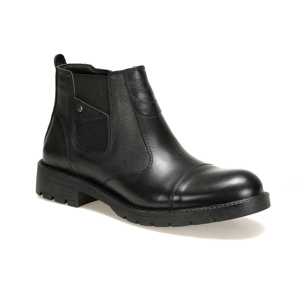 FLO 017M Black Men Boots Oxide
