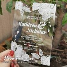 Acrylic Wedding Invitation Design Custom Decoration Cards Postcard Thank You Announcement