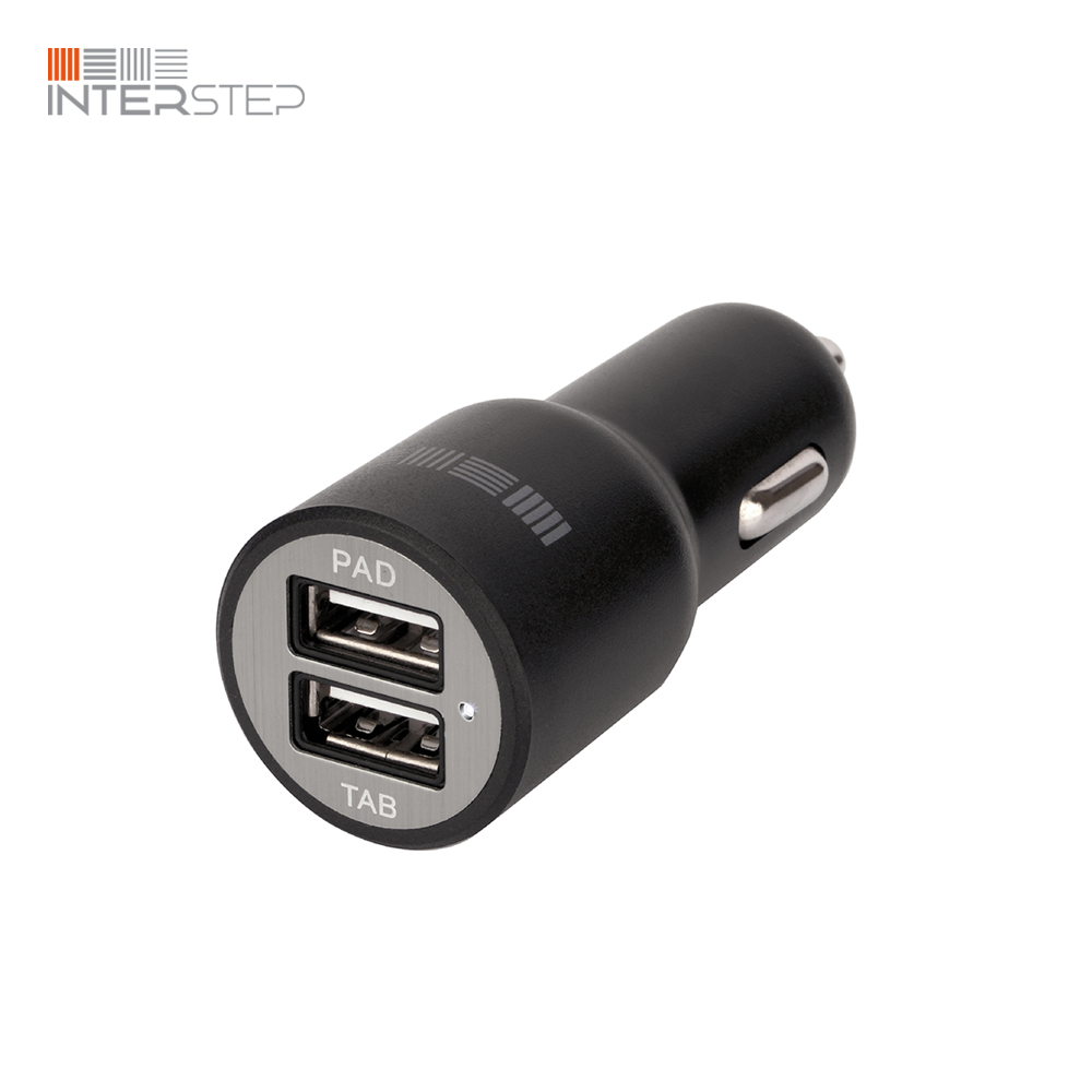 Car Charger INTERSTEP 2 USB 2.4 A цена 2017