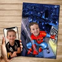 Póster de lona personalizado de Spider Man para decoración de habitación de Chico, impresión personalizada, imagen de pared, arte para niños, regalos sin marco