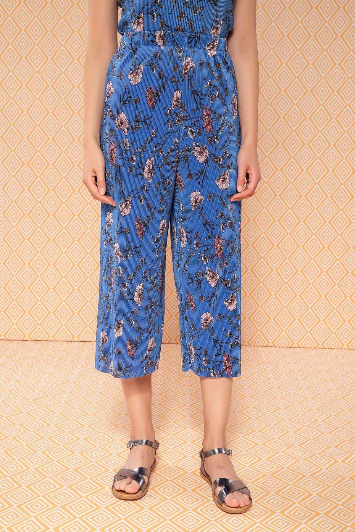 DeFacto Fashion Loose Striped Print Trousers Female Casual Comfort Pants High Qualilty Loose Wide Leg Pant Ladies -J8332AZ18HS
