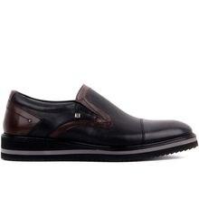 Fosco-couro genuíno 2020 sapatos masculinos vestido sapato preto tabaco calçado masculino tamanho 39-45 feito na turquia