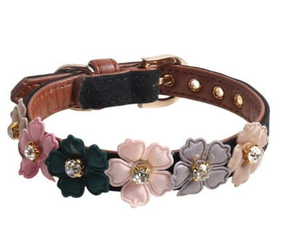 Flower Dog Collar | Cute Dog Collar | Cute Dog Accessories photo review