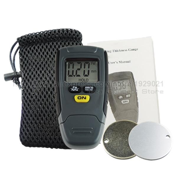Цифровой измеритель толщины покрытия краски, измеритель, прибор 1,25 мм, железное алюминиевое основание, металлический автомобильный неметаллический чехол
