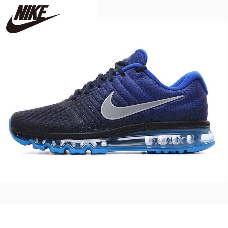 الأصلي نايك Air MAX 2017 نايك احذية الجري لكامل القبضة نانو Disu التكنولوجيا الرياضية حذاء رجالي أحذية رياضية الساخن الأزرق الداكن اليشم 40 45|الاحذية| - AliExpress