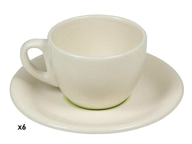Coffee Set (12 Pcs) China Crockery Green