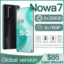 Smartphone android nowa7 8gb 512gb celulares octa núcleo hd câmera 7.2
